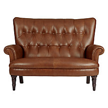 Buy John Lewis Hambleton Leather Snuggler, Dark Legs Online at johnlewis.com