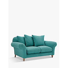 Buy Doodler Small 2 Seater Sofa by Loaf at John Lewis in Peacock Brushed Cotton, Light Leg Online at johnlewis.com