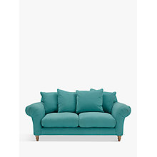 Buy Doodler 2 Seater Sofa by Loaf at John Lewis in Peacock Brushed Cotton, Light Leg Online at johnlewis.com