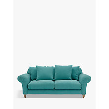 Buy Doodler 3 Seater Sofa by Loaf at John Lewis in Peacock Brushed Cotton, Light Leg Online at johnlewis.com