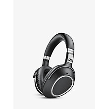 Buy Sennheiser PXC550 Wireless Noise Cancelling NFC Over-Ear Headphones With In-Line Mic/Remote, Black Online at johnlewis.com