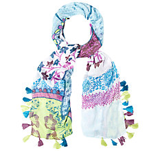 Buy White Stuff Elephant Placement Print Scarf, Multi Online at johnlewis.com