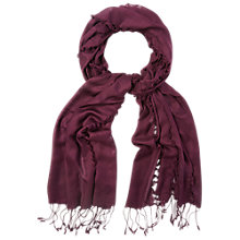 Buy White Stuff Bow Stitch Scarf, Purple Online at johnlewis.com