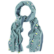 Buy White Stuff Flowers Scarf, Hyacinth Green Online at johnlewis.com