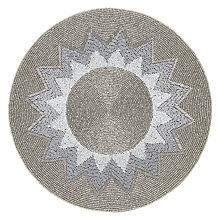 Buy John Lewis Explosion Glass Bead Place Mat, Silver Online at johnlewis.com
