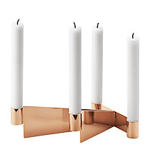 Buy Georg Jensen Urkiola PVD & Stainless Steel Candlestick Holder Online at johnlewis.com