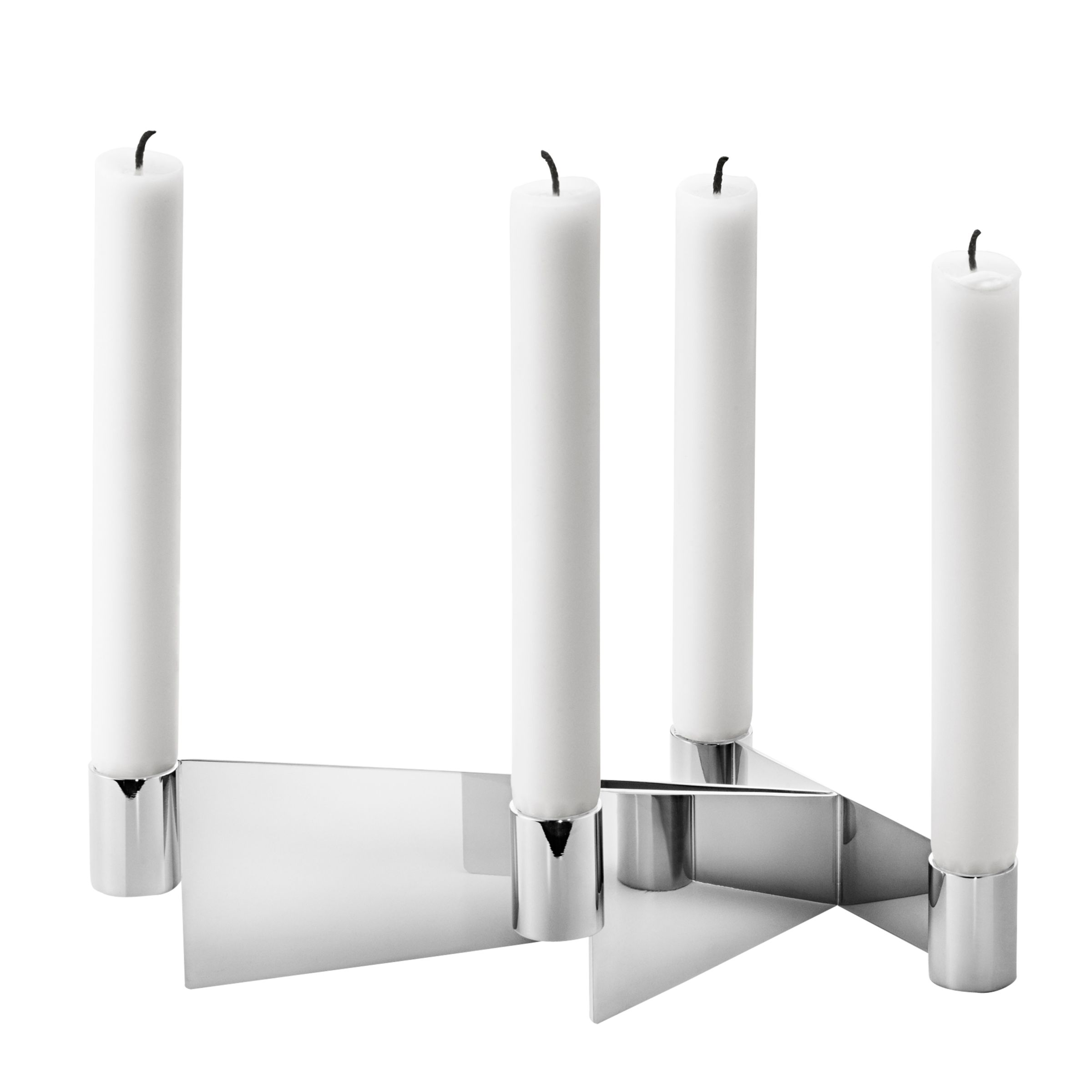 Georg Jensen Georg Jensen Urkiola Stainless Steel Candlestick Holder