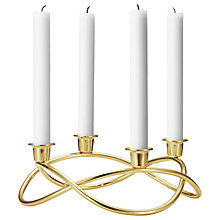 Buy Georg Jensen Season Gold Plated Candlestick Holder Online at johnlewis.com