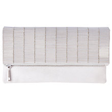 Buy Coast Bugle Beaded Clutch Bag, Silver Online at johnlewis.com