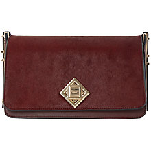 Buy Dune Demilia Diamond Lock Across Body Bag, Red Online at johnlewis.com