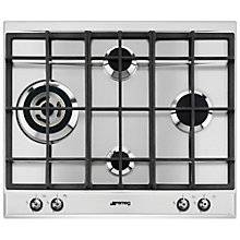 Buy Smeg P361XGH Linea Aesthetic Integrated Gas Hob Online at johnlewis.com