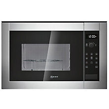 Buy Neff H12GE60N0G Built-In Microwave with Grill, Stainless Steel Online at johnlewis.com