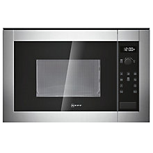 Buy Neff H11WE60N0G Built-In Microwave Oven, Stainless Steel Online at johnlewis.com