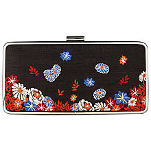 Buy L.K. Bennett Nora Box Clutch Bag, Black Online at johnlewis.com