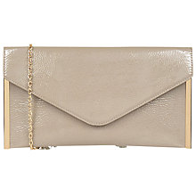 Buy Oasis Patent Envelope Clutch Bag, Mid Neutral Online at johnlewis.com