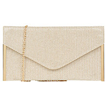 Buy Oasis Glitter Envelope Clutch Bag, Multi Online at johnlewis.com