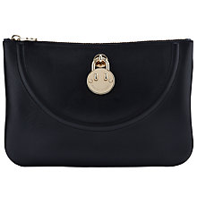 Buy Hill and Friends Happy Clutch Bag, Liquorice Black Online at johnlewis.com