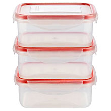 Buy Waitrose 400ml Rectangle Storage Containers, Set of 3 Online at johnlewis.com