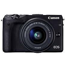 Buy Canon EOS M3 Camera with EF-M 15-45mm IS STEM Lens and Adobe Premiere Elements 15 Online at johnlewis.com