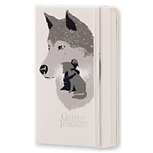 Buy Moleskine Limited Edition Game Of Thrones Hard Cover Journal, White Online at johnlewis.com