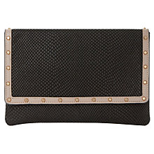 Buy Dune Bairo Studded Envelope Clutch Bag Online at johnlewis.com