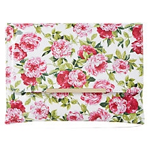 Buy Dune Beaut Floral Clutch Bag, White Online at johnlewis.com