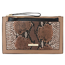 Buy Dune Essa Clutch Bag, Taupe Online at johnlewis.com
