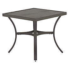Buy John Lewis Marlow Aluminium 4 Seater Dining Table, Black / Grey Online at johnlewis.com