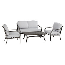 Buy John Lewis Marlow Aluminium 4 Seater Lounge Set, Black / Grey Online at johnlewis.com