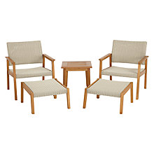 Buy John Lewis Stockholm 5 Piece Lounge Set, FSC-Certified (Eucalyptus), Natural Online at johnlewis.com