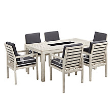 Buy John Lewis Atlantic 6-Seater Dining Chair & Table Set, FSC-Certified (Acacia), Grey Online at johnlewis.com