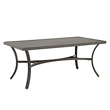 Buy John Lewis Marlow Aluminium 6 Seater Dining Table, Black / Grey Online at johnlewis.com