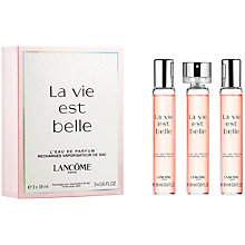 Buy Lancôme La Vie Est Belle L'Eau de Parfum Purse Sprays, 3 x 18ml Online at johnlewis.com