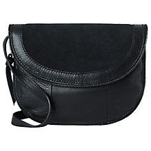 Buy Pieces Pibsy Suede Across Body Bag, Black Online at johnlewis.com