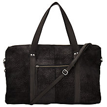 Buy Pieces Paula Suede And Leather Travel Bag, Black Online at johnlewis.com