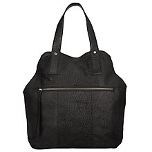 Buy Pieces Paula Leather Tote Bag, Black Online at johnlewis.com