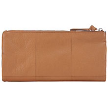 Buy Pieces Pennie Leather Clutch Bag, Natural Online at johnlewis.com