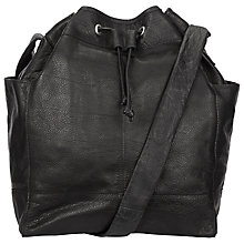 Buy Pieces Paige Leather Duffle Bag, Black Online at johnlewis.com