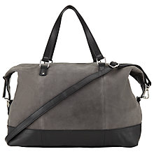 Buy Pieces Pilar Suede Travel Bag, Castlerock Grey Online at johnlewis.com