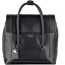 Buy Radley Boundaries Medium Leather Backpack, Black Online at johnlewis.com