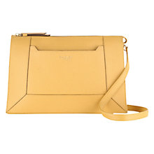 Buy Radley Hardwick Medium Leather Across Body Bag, Yellow Online at johnlewis.com