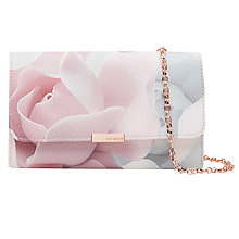 Buy Ted Baker 	Beckee Porcelain Rose Evening Bag, Nude Pink Online at johnlewis.com