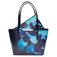Buy Ted Baker Abbylee Butterfly Collective Leather Shopper Bag, Black Online at johnlewis.com
