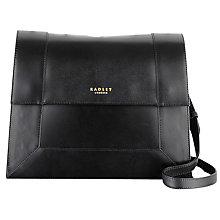Buy Radley Hardwick Medium Leather Across Body Bag, Black Online at johnlewis.com