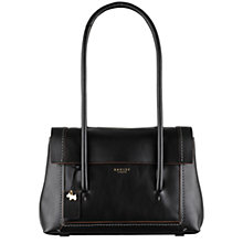 Buy Radley Boundaries Leather Medium Tote Bag, Black Online at johnlewis.com