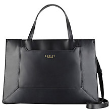 Buy Radley Hardwick Medium Leather Grab Bag, Black Online at johnlewis.com