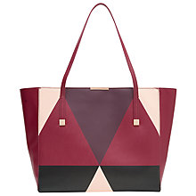Buy Ted Baker Angela Leather Shopper Bag, Grape Online at johnlewis.com