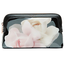 Buy Ted Baker Annello Rose Makeup Bag, Black Online at johnlewis.com