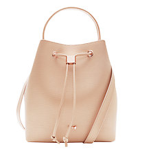 Buy Ted Baker Karisa Leather Bucket Bag, Taupe Online at johnlewis.com