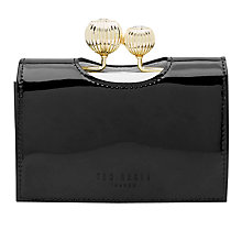 Buy Ted Baker Julissa Small Patent Leather Purse, Black Online at johnlewis.com
